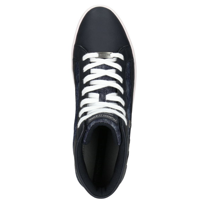 Knöchelhohe Sneakers mit Denim-Details north-star, Blau, 841-9609 - 26