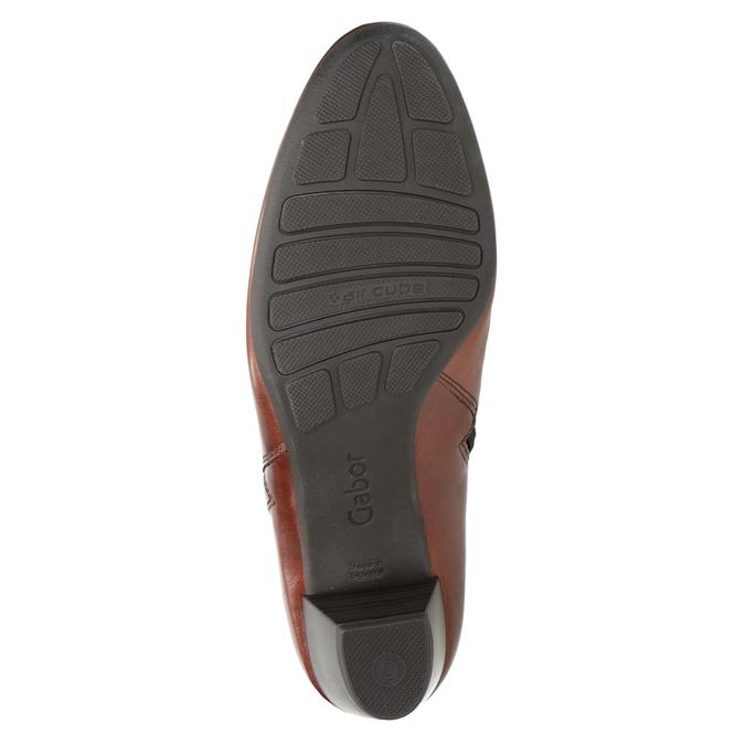 Knöchelschuhe aus Leder mit niedrigem Absatz gabor, Braun, 616-3112 - 17