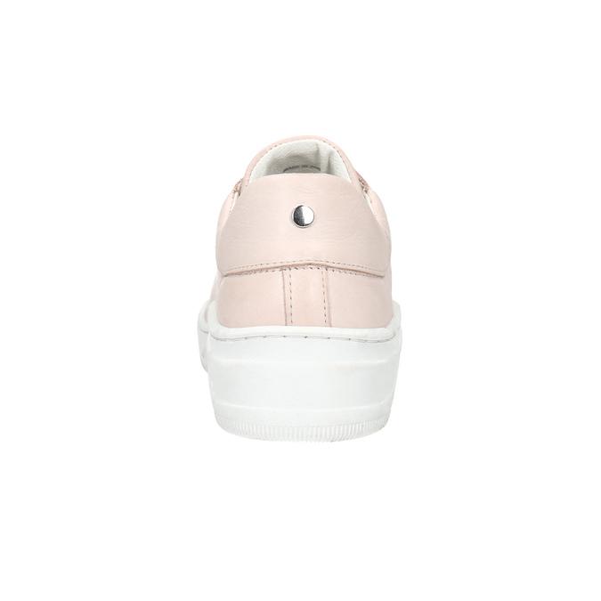 Damen-Sneakers aus Leder bata, Rosa, 526-5641 - 16