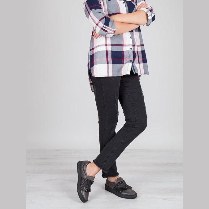 Damen-Slip-Ons aus Leder bata, Schwarz, 516-6614 - 18