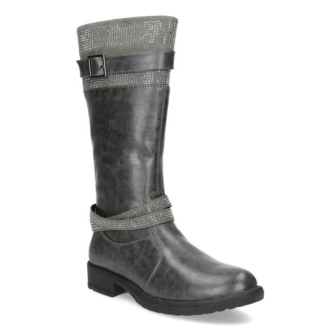 Mädchen-Stiefel mit Steinchen mini-b, Grau, 391-2655 - 13