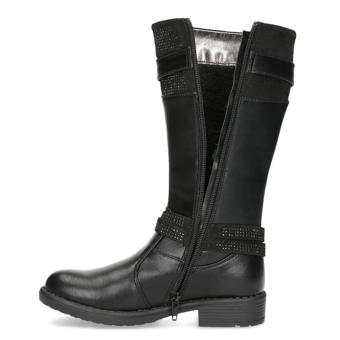 Schwarze Mädchenstiefel mini-b, Schwarz, 391-6655 - 17