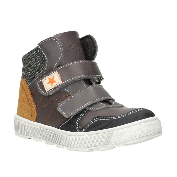 Knöchelhohe Sneakers aus Leder mini-b, Braun, 214-4203 - 13