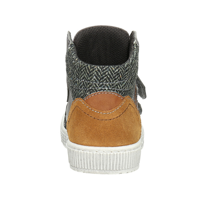 Knöchelhohe Sneakers aus Leder mini-b, Braun, 214-4203 - 16