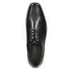 Schwarze Lederhalbschuhe bata, Schwarz, 824-6600 - 26
