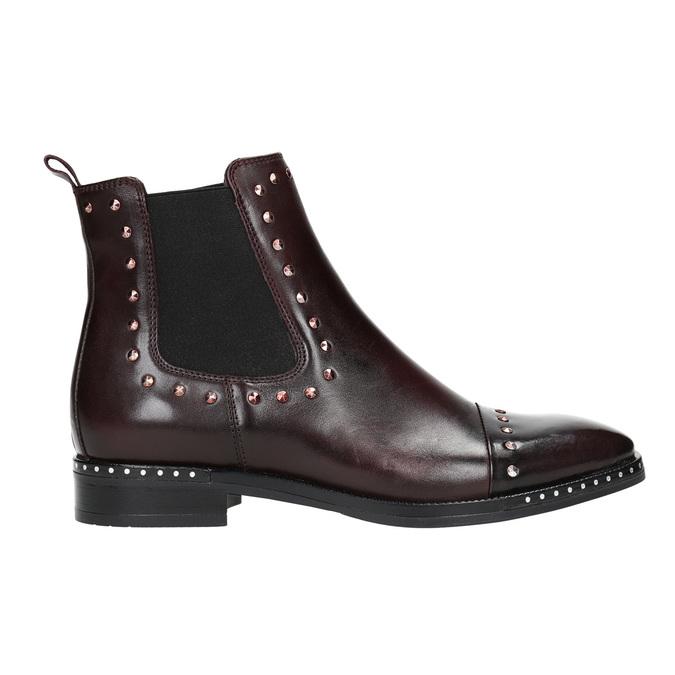 Damen-Chelsea-Boots aus Leder bata, Rot, 596-5679 - 15