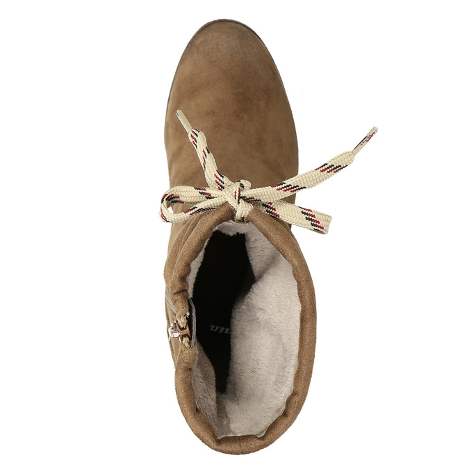 Braune Stiefel mit Absatz bata, Braun, 799-3613 - 26