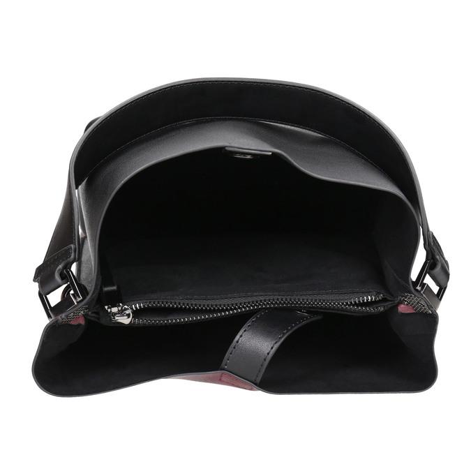Zweifarbige Damenhandtasche bata, Schwarz, 961-6173 - 15