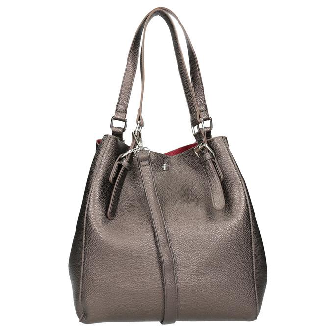 Handtasche mit silbernen Details cafe-noir, Gelb, 961-8097 - 16