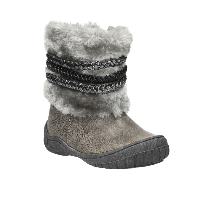 Kinder-Winterschuhe mit Fell bubblegummer, Grau, 191-2620 - 13