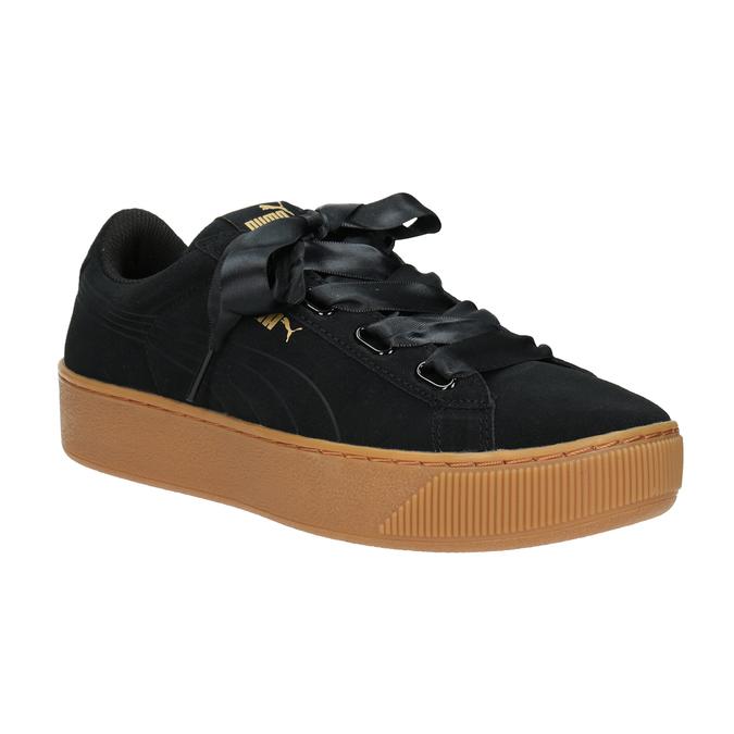 Damen-Sneakers aus Leder puma, Schwarz, 503-6169 - 13