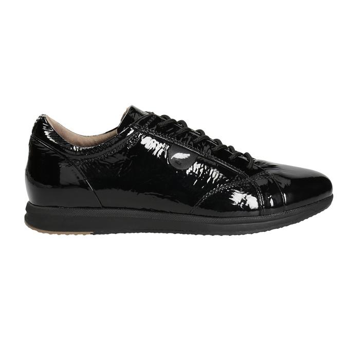 Schwarze Sneakers aus Leder geox, Schwarz, 528-6083 - 26