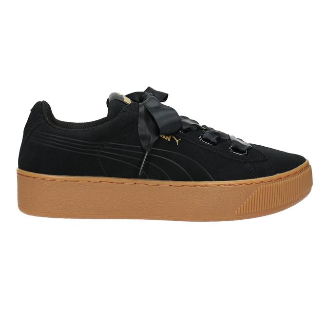 Damen-Sneakers aus Leder puma, Schwarz, 503-6169 - 26