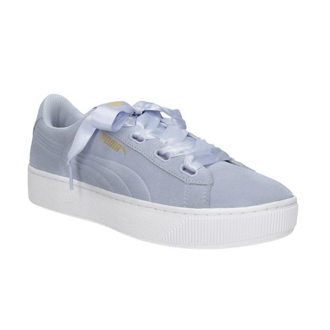 Damen-Sneakers aus Leder puma, Blau, 503-9169 - 13