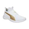 Weisse Damen-Sneakers mit goldenem Streifen puma, Weiss, 509-1200 - 13