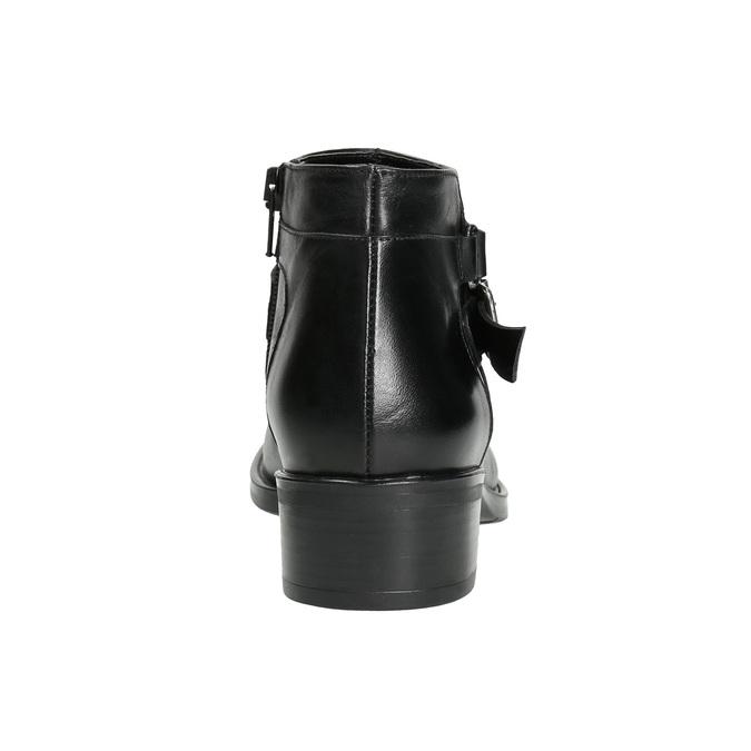 Knöchelschuhe aus Leder mit einer Schnalle bata, Schwarz, 594-6655 - 17