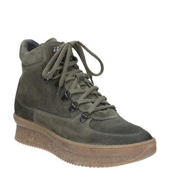 Damen-Flatform-Schuhe aus Leder bata, Grau, 596-2673 - 13