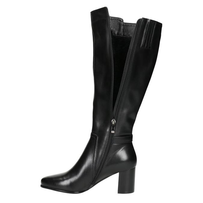 Stiefel mit stabilem Absatz bata, Schwarz, 694-6638 - 26