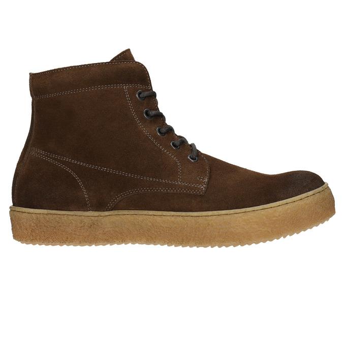 Braune Stiefeletten aus Leder bata, Braun, 843-3632 - 15