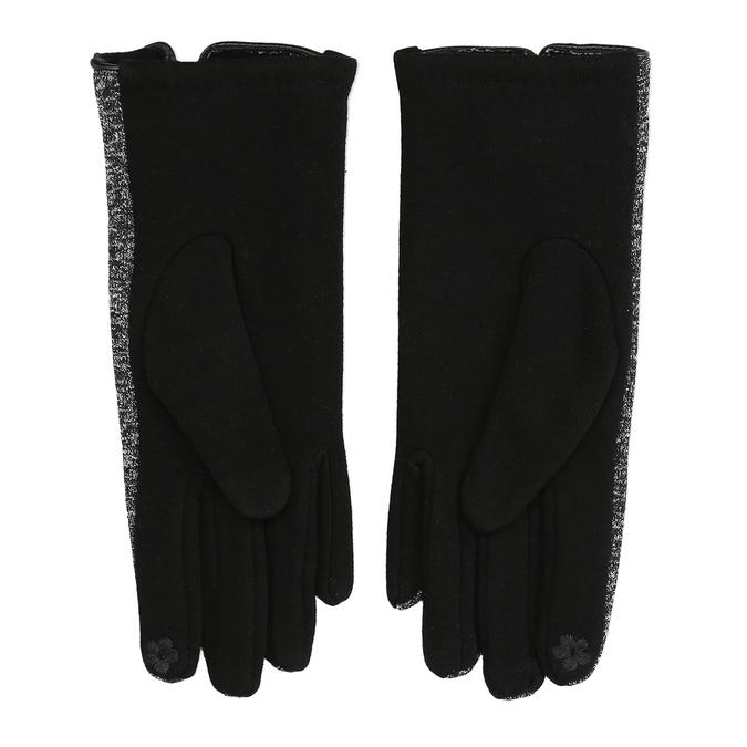 Damenhandschuhe mit Schleifchen bata, Schwarz, 909-6615 - 16