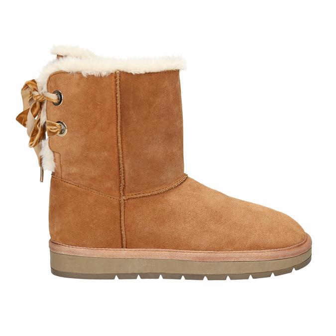 Velours-Stiefel für Damen bata, Braun, 593-4604 - 15