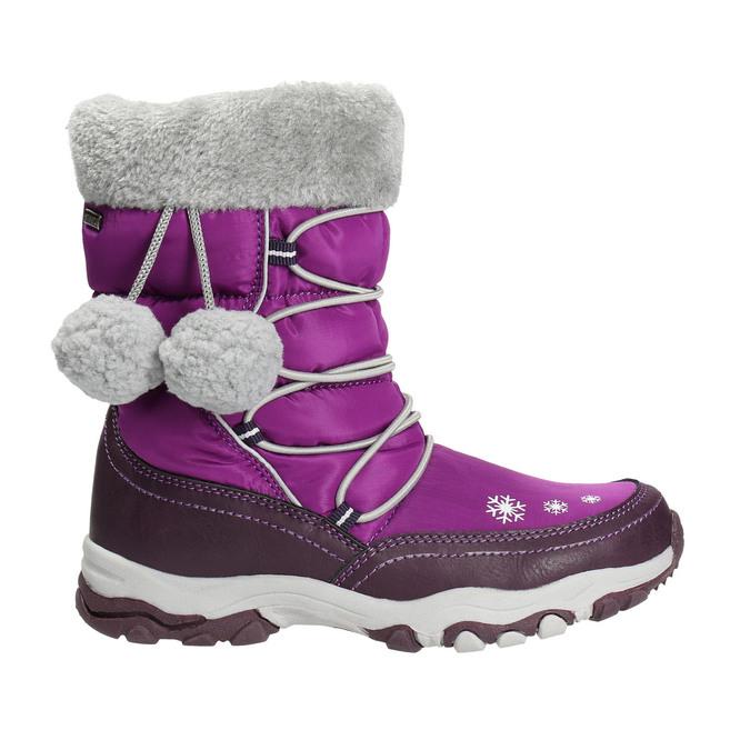 Mädchen-Schneestiefel mit Pompons mini-b, Violett, 399-5656 - 15