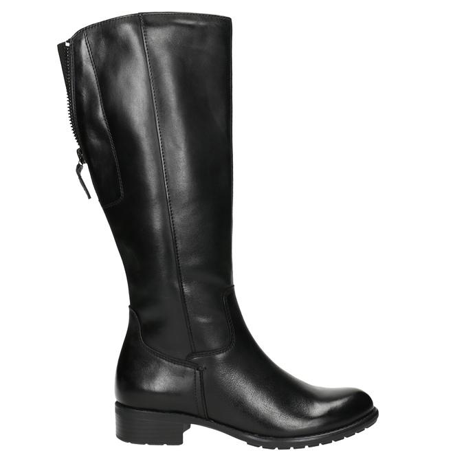 Schwarze Lederstiefel für Damen bata, Schwarz, 596-6604 - 15