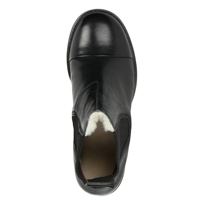 Knöchelschuhe aus Leder mit elastischen Seitenteilen ten-points, Schwarz, 516-6091 - 15