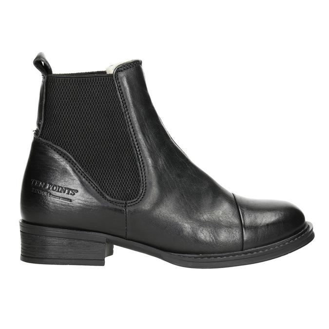 Knöchelschuhe aus Leder mit elastischen Seitenteilen ten-points, Schwarz, 516-6091 - 26