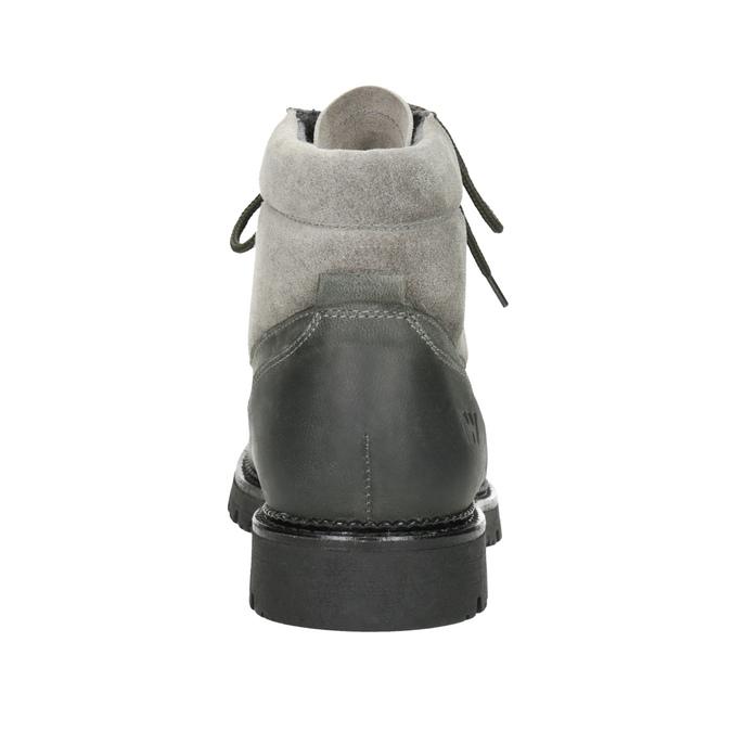 Damenstiefeletten aus Leder weinbrenner, Grau, 596-2672 - 16
