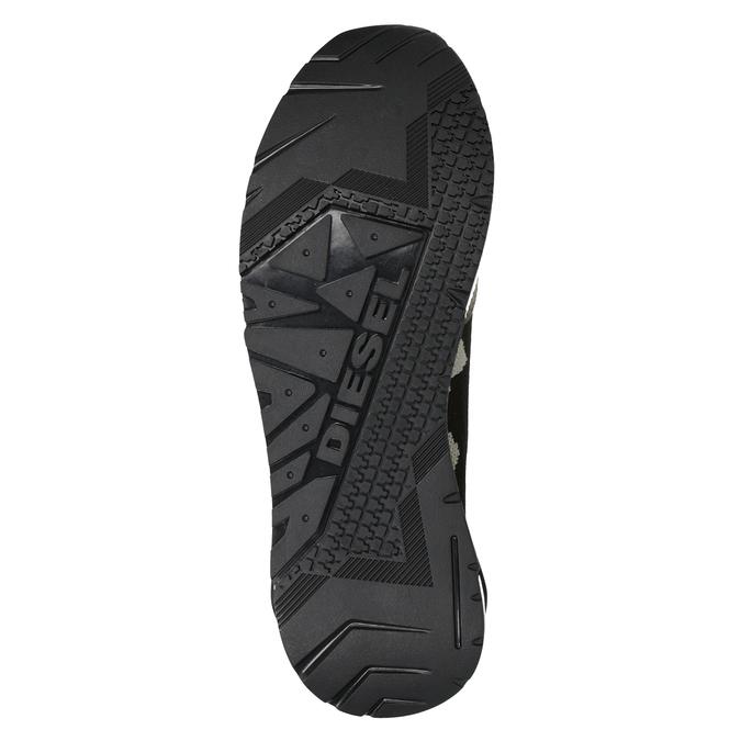Herren-Sneakers mit Muster diesel, Grűn, 809-7602 - 17