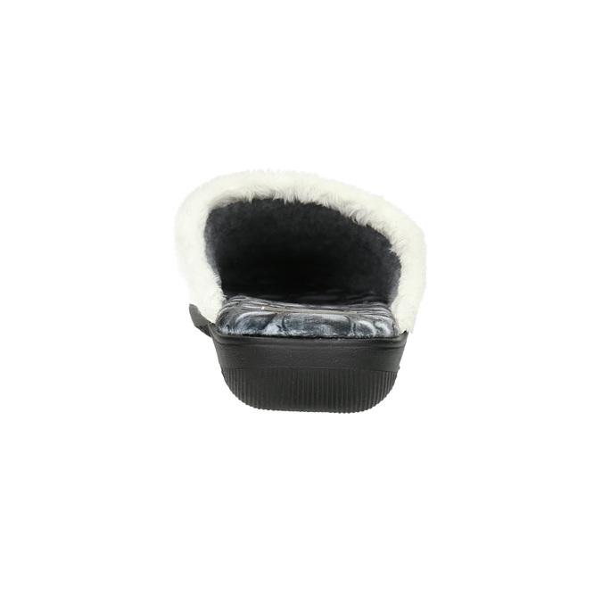 Graue Damen-Hausschuhe bata, Grau, 579-2622 - 17