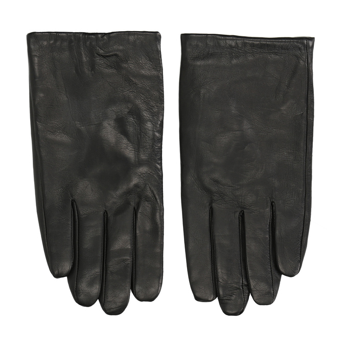 Schwarze Lederhandschuhe bata, Schwarz, 904-6130 - 26