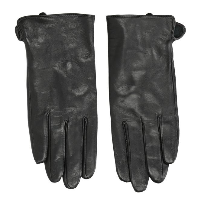 Damenhandschuhe aus Leder bata, Schwarz, 904-6129 - 26