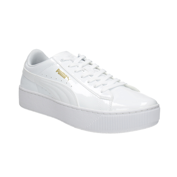 Weiße Damen-Sneakers mit Plattform puma, Weiss, 501-1159 - 13