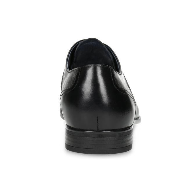 Herrenhalbschuhe aus Leder bata, Schwarz, 824-6758 - 15