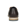 Braune Lederhalbschuhe bata, Braun, 826-3924 - 16
