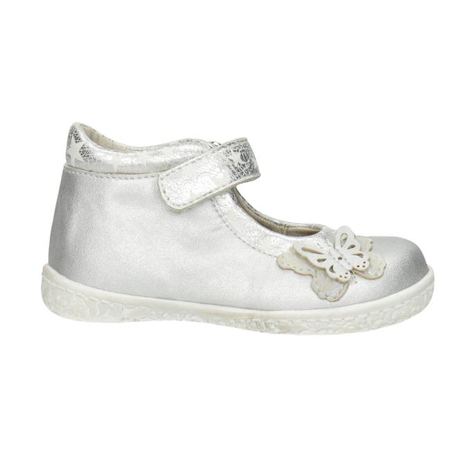 Silberne Mädchen-Ballerinas bubblegummer, Grau, 121-2620 - 26