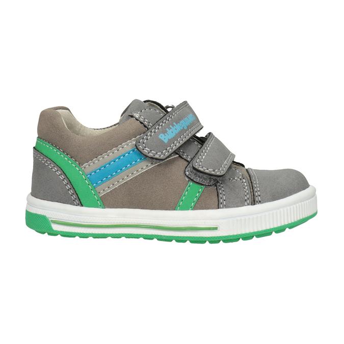 Kinder-Sneakers mit Klettverschluss bubblegummer, Grau, 111-2625 - 26