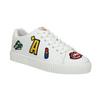 Weiße Damen-Sneakers mit Aufnähern north-star, Weiss, 541-1602 - 13