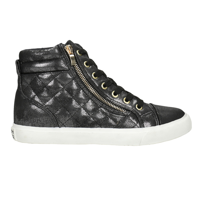 Schwarze, knöchelhohe Damen-Sneakers north-star, Schwarz, 541-6600 - 16