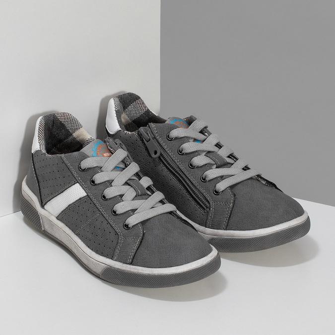 Kinder-Sneakers mit Perforation mini-b, Grau, 411-2102 - 26