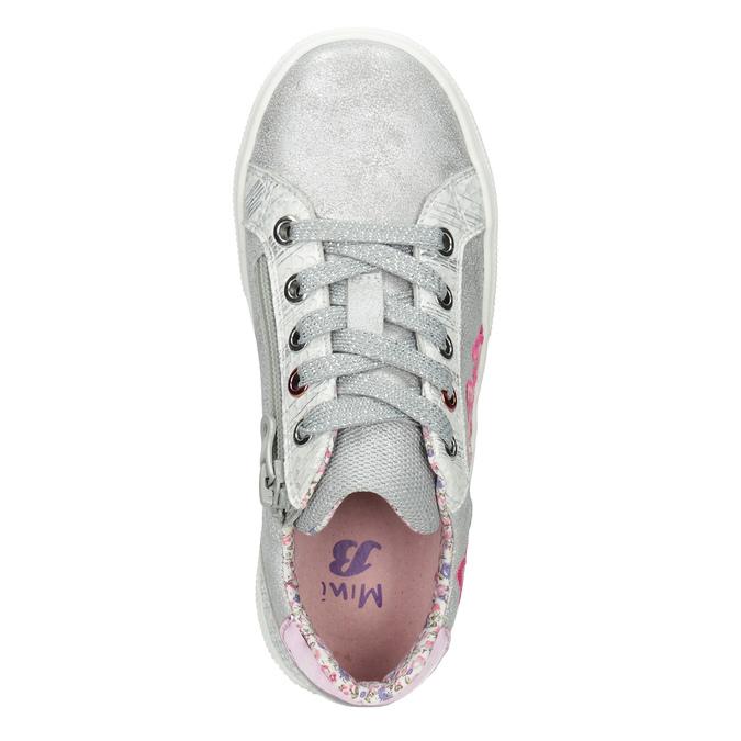 Mädchen-Sneakers mit Stickmotiv mini-b, Silber , 321-1381 - 15