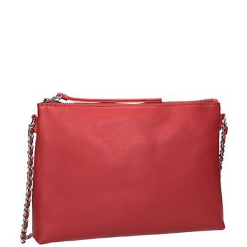 Rote Crossbody-Handtasche mit Kettchen bata, Rot, 964-5292 - 13