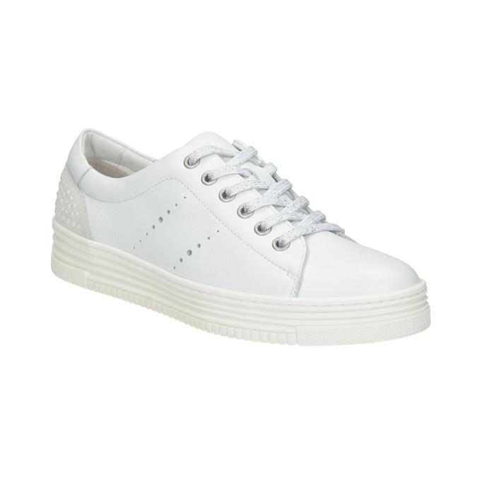 Legere Damen-Sneakers aus Leder bata, Weiss, 544-1606 - 13