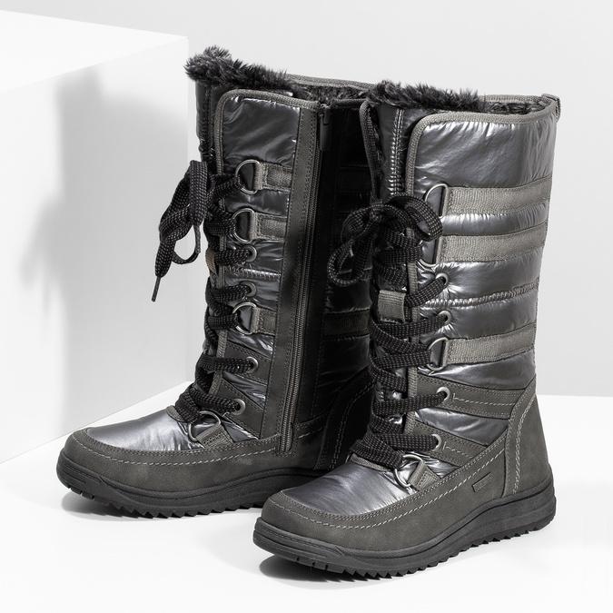 Damen-Schneestiefel bata, Grau, 599-2619 - 16