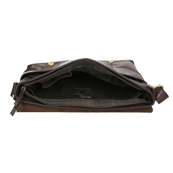 Herrentasche aus Leder bata, Braun, 964-4235 - 15